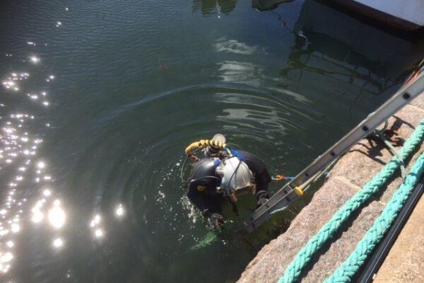 Dykare i vattnet